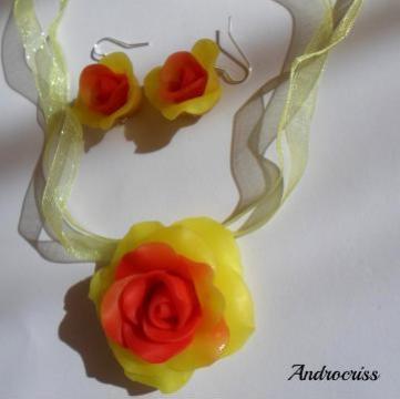 Set bijuterii Trandafir