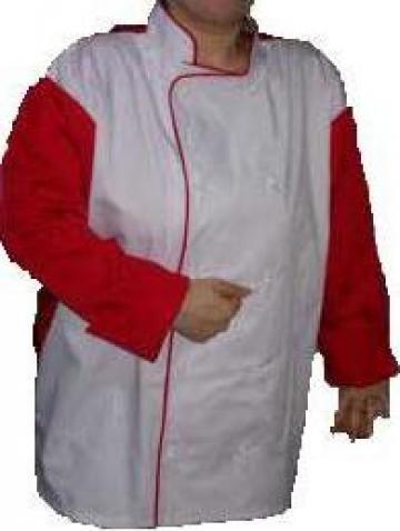 Uniforma de bucatar alb - rosu de la Johnny Srl.
