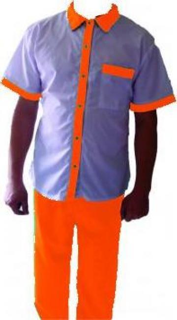 Pantalon de lucru portocaliu bumbac de la Johnny Srl.