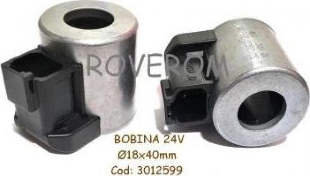 Bobina 24V, D18x40mm, electrovalva hidraulica, Hyundai de la Roverom Srl