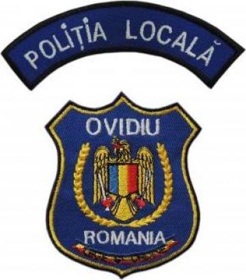Emblema ecuson maneca Politia Locala de la Akilex Conf S.r.l.