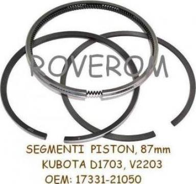 Segmenti piston Kubota D1703, V2203, 87mm