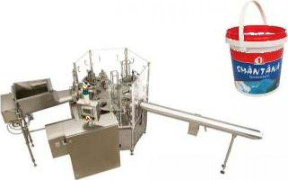 Masina rotativa de umplere si sigilare galeti (0.900 ml)