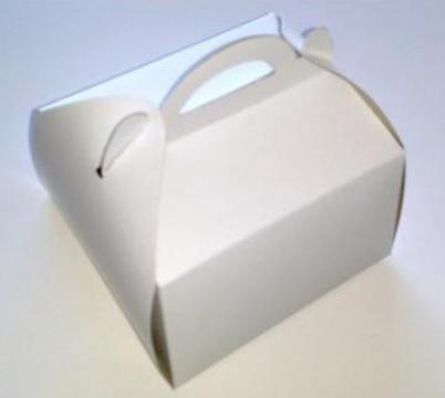 Cutie prajituri 12x16 cm albe