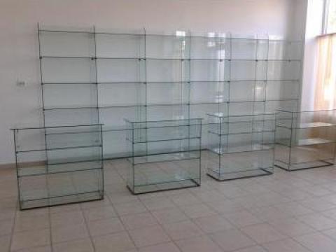 Rafturi sticla, tejghele, vitrine, tonete sticla de la Ii Dinca Ion-Petre