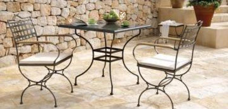 Masa si scaune din fier forjat Atena de la Stefiart Design Srl