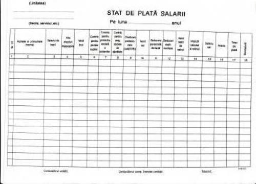 Evidenta salarizare personal de la Expert Contabil Juscu Nicolae-cristian - Expert Contabil Aut