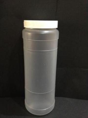 Borcan transparent 800ml cu capac fi 66 alb/galben de la Vanmar Impex Srl