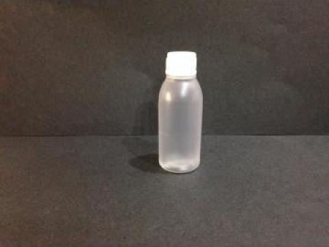 Flacon plastic transparent/alb 20 ml cu dop fi 10 rosu/alb de la Vanmar Impex Srl