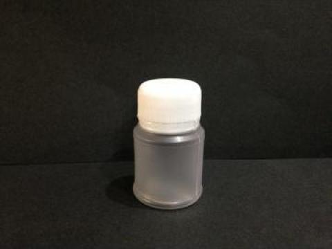 Flacon plastic transparent/alb 30 ml cu dop fi 28 PV de la Vanmar Impex Srl