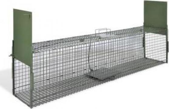Capcana pentru animale cu 2 intrari 150 x 30 x 30 cm de la Vidaxl