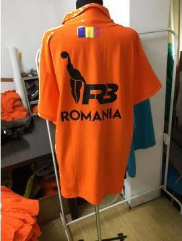 Tricou polo portocaliu personalizat