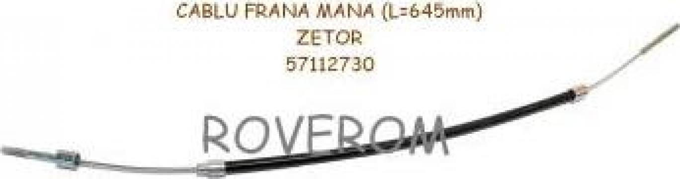 Cablu frana mana Zetor 5711, 5745, 5911, 5945, 6711, L=645mm de la Roverom Srl