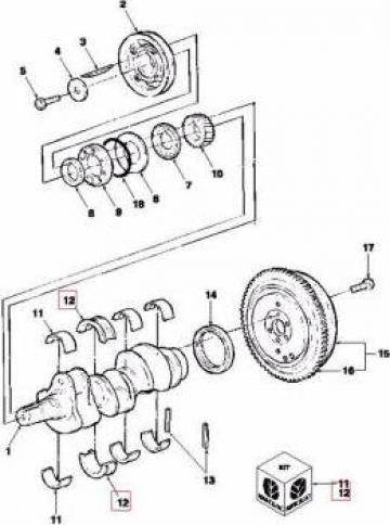 Cuzineti axiali tractor STD CNH 87790266