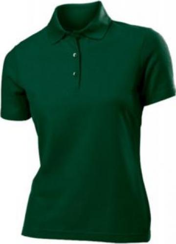 Tricou verde polo