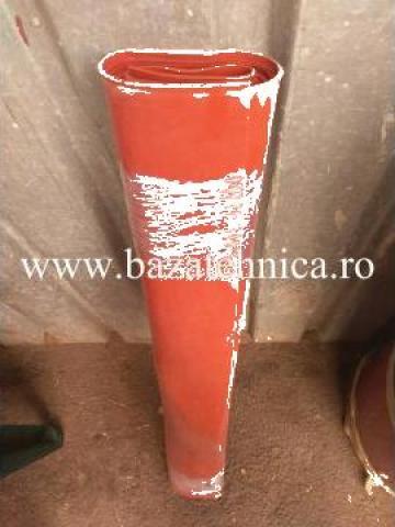 Covor cauciuc siliconic rosu 2 x 1000 x 1000 mm de la Baza Tehnica Alfa Srl