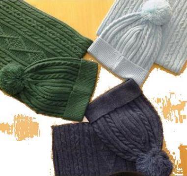 Caciula si fular tricotate