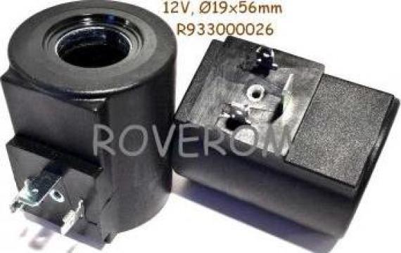 Bobina 12V, D19x56mm, (cilindrica) electrovalva hidraulica de la Roverom Srl