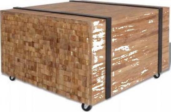 Masa laterala din lemn de tec, 60 x 60 x 38 cm de la Vidaxl