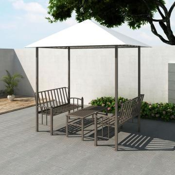 Pavilion de gradina cu masa si banci 2,5x1,5x2,4 cm de la Vidaxl