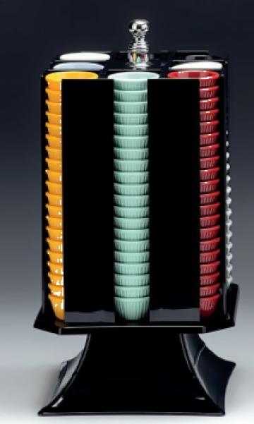 Suport rotativ acrilic pentru boluri ramekin H42cm de la Basarom Com