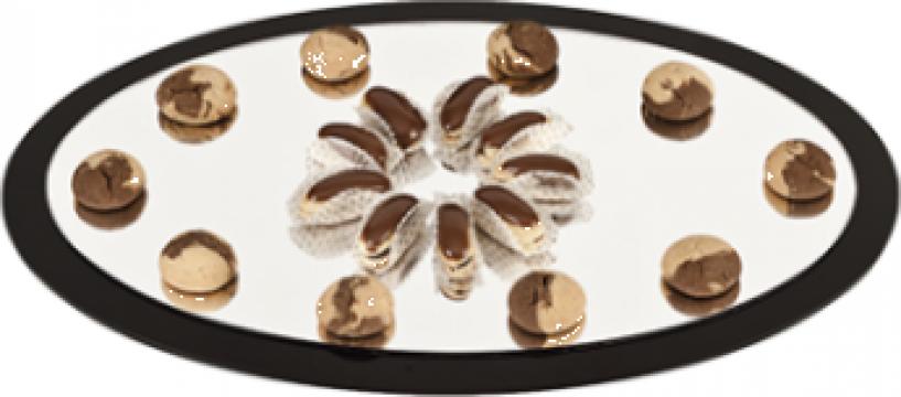 Platou oval acrilic prezentare Raki, suprafata oglinda de la Basarom Com