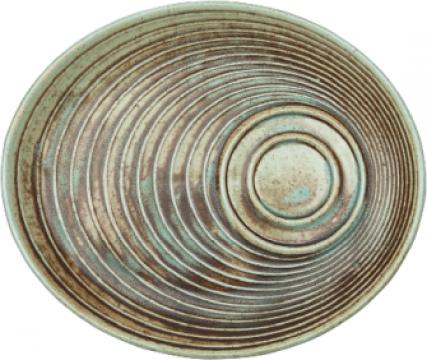 Farfurie ovala ceramica Bonna colectia Coral 20x17cm de la Basarom Com