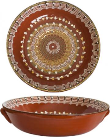 Tava ceramica, lut 33cm de la Basarom Com