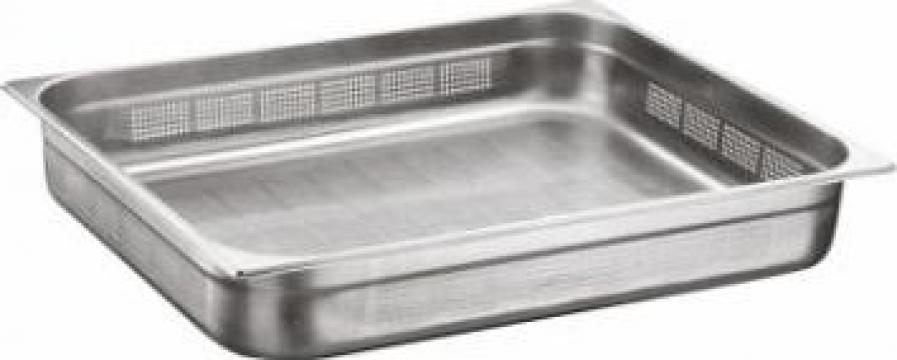 Tava inox perforata gastronorm Ozti 2-1 GNP 100mm de la Basarom Com