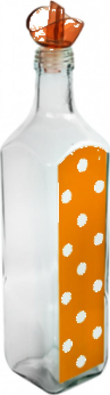 Sticla ulei masline M-151250 750ml orange cu buline de la Basarom Com