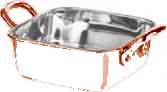 Roaster patrat Raki inox cu strat cupru 11,5x4,75cm, 400ml