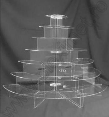 Suport circular 7 nivele prajituri, minitorturi SPEv 22