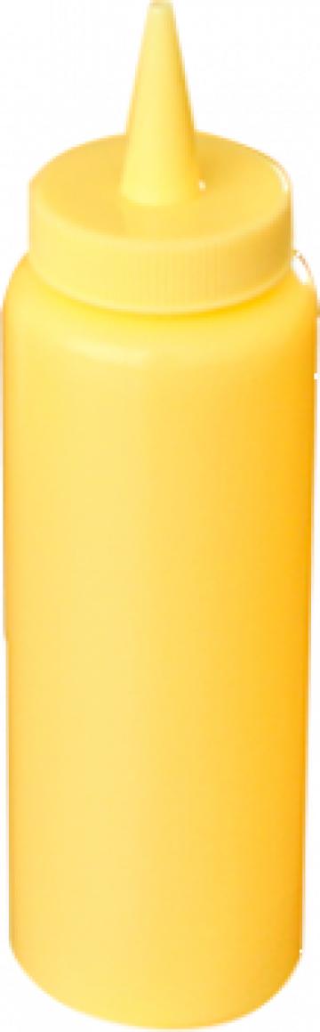 Dispenser mustar 24oz galben de la Basarom Com