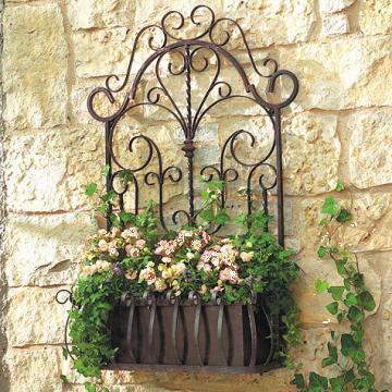 Suport jardiniera flori, din fier forjat manual 70x45cm de la Stefiart Design Srl