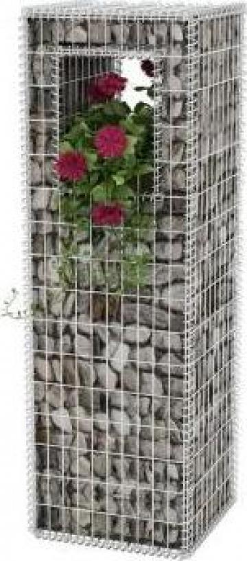 Stalp cos gabion / jardiniera din otel, 50 x 160 cm de la Vidaxl