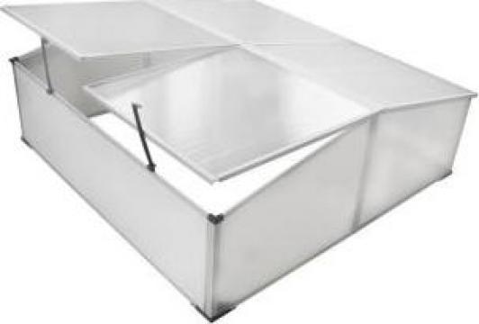 Pavilion protectie frig cu acoperis 4 panouri 108x41x110 cm