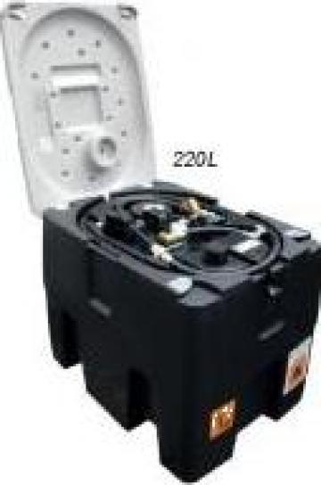 Rezervor bazin transportabil motorina ADR 220litri pompa 12V