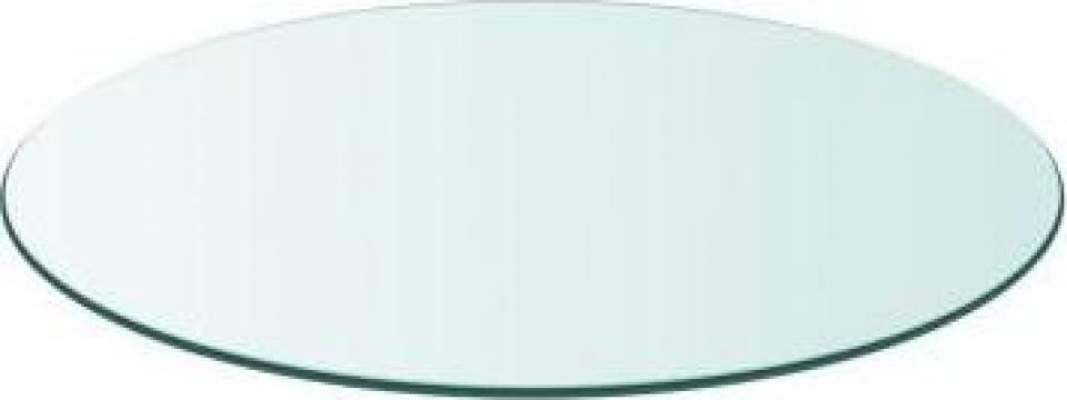 Blat masa din sticla securizata rotund 800 mm de la Vidaxl