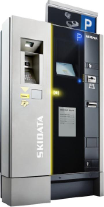 Automat de taxare de la Parking Experts Srl