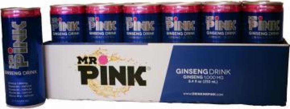 Bautura energizanta cu ginseng Mr. Pink de la SPM Beverages Trading Ug (Haftungsbeschrankt)