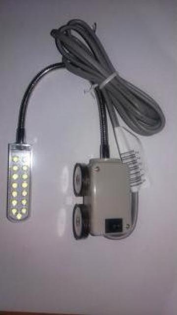 Lampa masina cusut 15 led, brat flexibil de la Sercotex International Srl