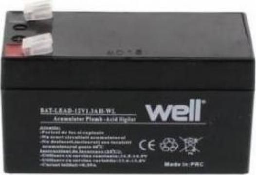 Acumulator plumb acid 12v 1.3Ah WELL de la Electro Supermax Srl