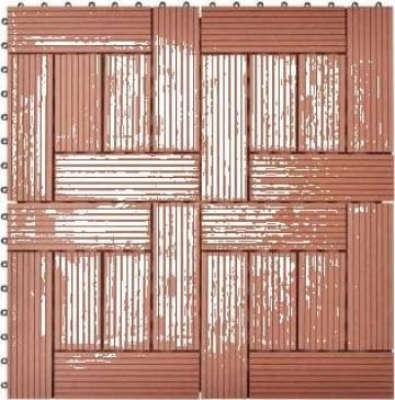 Set de 11 bucati placi 30 x cm din WPC 1 mp, maro