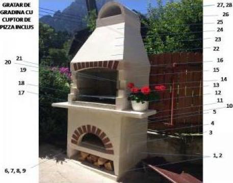 Gratar gradina cu cuptor de pizza inclus de la Sc Teracota Construct Srl