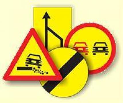 Indicatoare rutiere pentru lucrari de la S.c. Drumalex S.r.l.