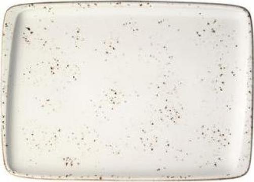Platou dreptunghiular din portelan Bonna-Grain 23x16cm de la Basarom Com
