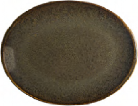 Farfurie ovala din portelan Bonna colectia Tierra 31cm