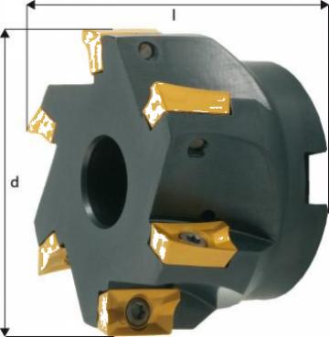 Cap de frezare 90 grade D80mm 7 taisuri pentru APKT16 de la Electrotools
