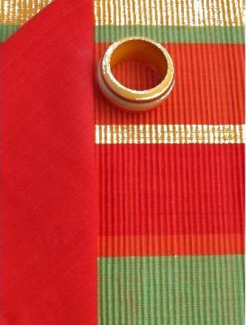 Fata de masa din bumbac 150x220cm rosu, verde de la Basarom Com