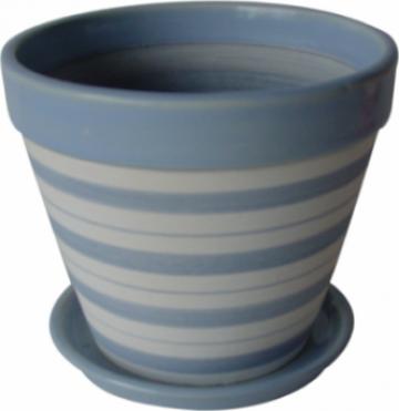 Ghiveci din ceramica pentru flori cu suport 6139 de la Basarom Com